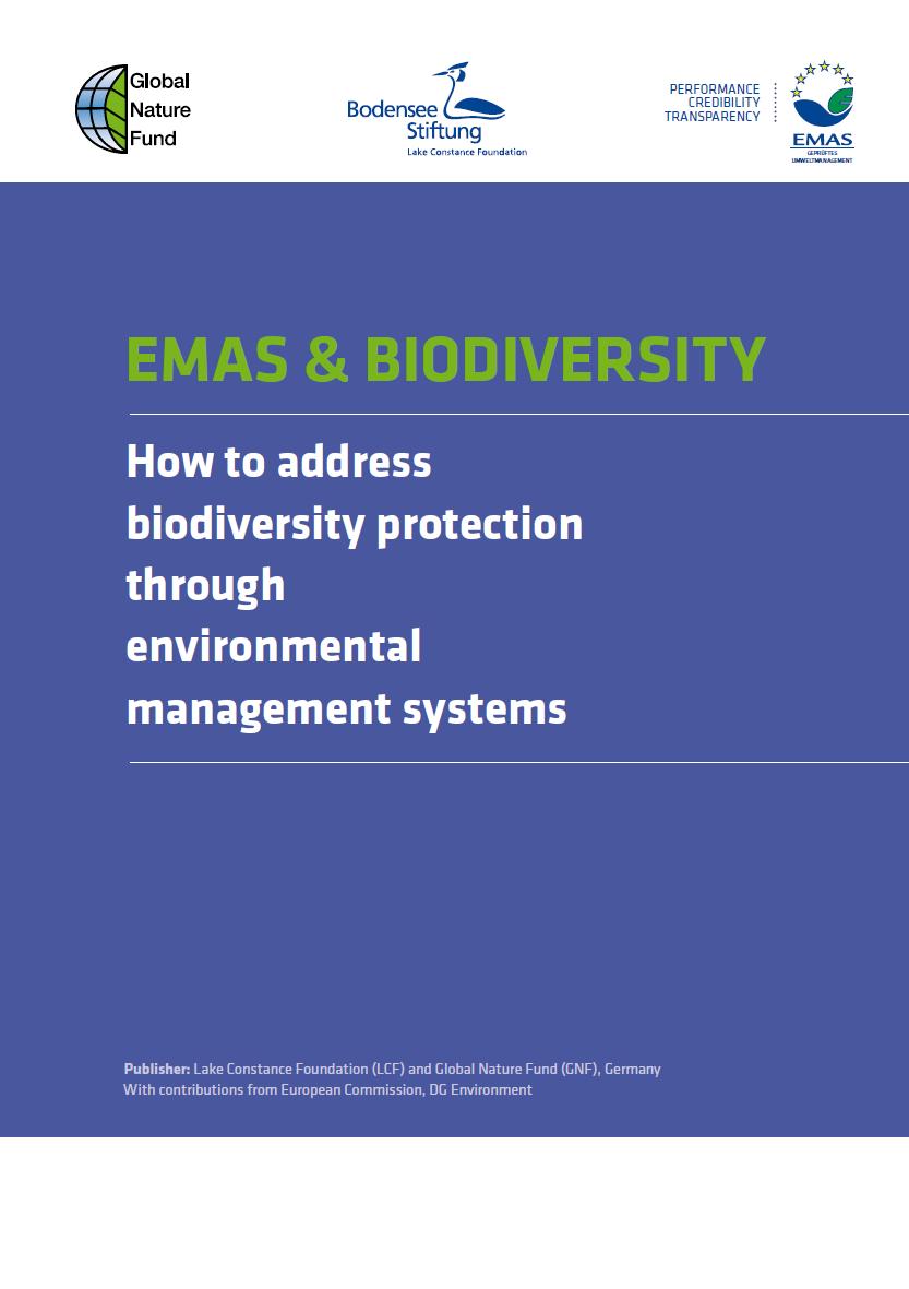 """Neuer Leitfaden """"EMAS und Biodiversität – Schutz der biologischen Vielfalt im Rahmen von Umweltmanagementsystemen"""""""