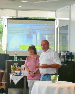 Martin Hahn, MdL Wahlkreis Bodenseekreis, gratuliert der Bodensee-Stiftung zum 25-jährigen Jubiläum