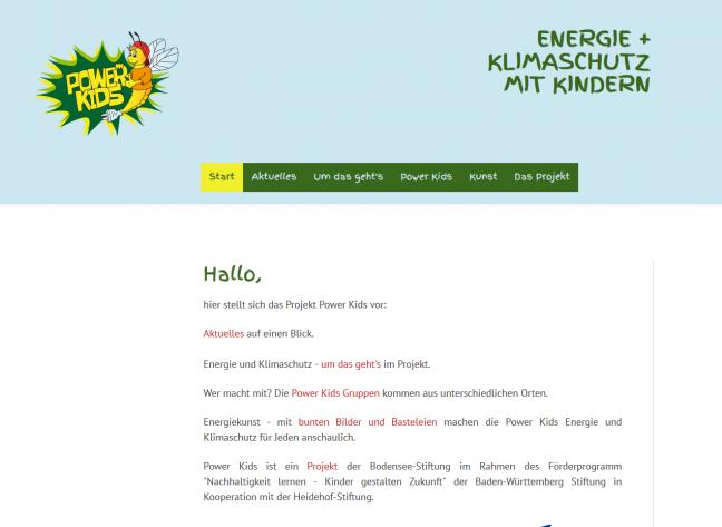 Power Kids mit eigener Homepage