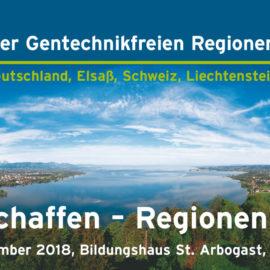 Einladung zur 8. Konferenz der gentechnikfreien Regionen am Bodensee