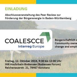 Einladung zur Veranstaltung: Empfehlungen für eine zukunftsfähige Bürgerenergie
